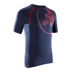 500 交叉訓練加壓T-Shirt - 藍色