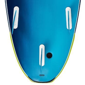 """Planche de surf en mousse 500, 8'6"""". Livrée avec un leash et 3 ailerons. - 1313504"""
