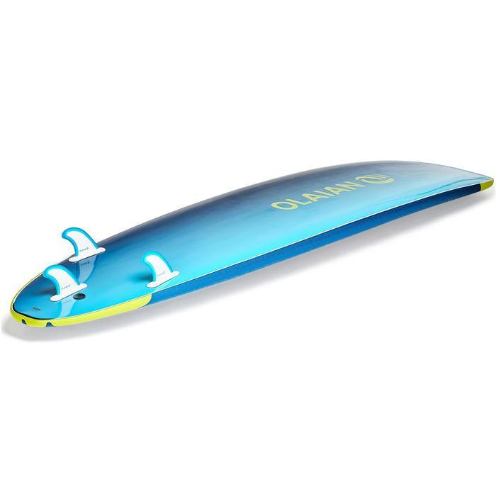 """Planche de surf en mousse 500, 8'6"""". Livrée avec un leash et 3 ailerons. - 1313506"""