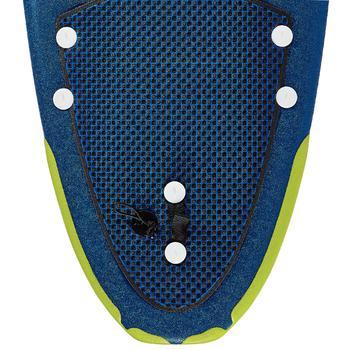 """Foam surfboard 500, 8'6"""". Geleverd met een leash en 3 vinnen."""