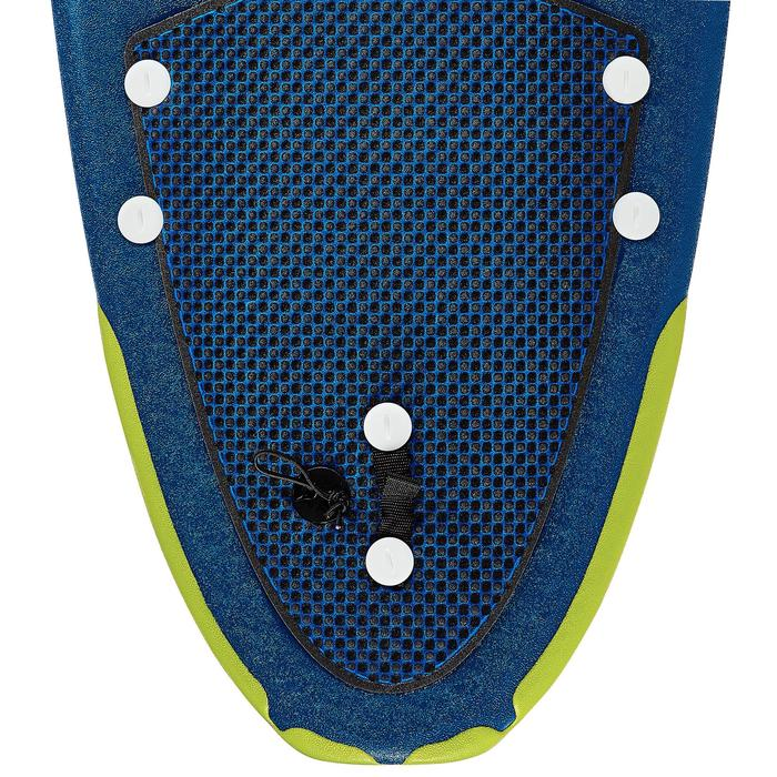 """Foam surfboard 8'6"""" 500. Geleverd met een leash en 3 vinnen."""