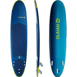 Tabla Surf Espuma Evolutiva Olaian 500 8,6' Adulto Azul Verde Leash Quillas