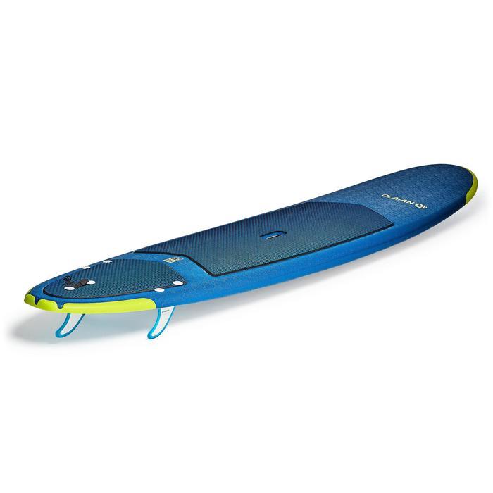 """Planche de surf en mousse 500, 8'6"""". Livrée avec un leash et 3 ailerons. - 1313513"""