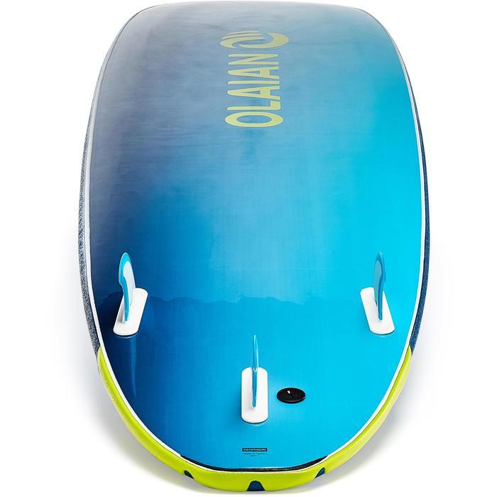 """Planche de surf en mousse 500, 8'6"""". Livrée avec un leash et 3 ailerons. - 1313516"""
