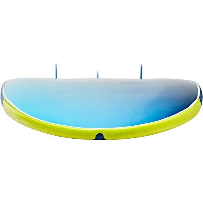 """Planche de surf en mousse 500, 8'6"""". Livrée avec un leash et 3 ailerons. - 1313517"""