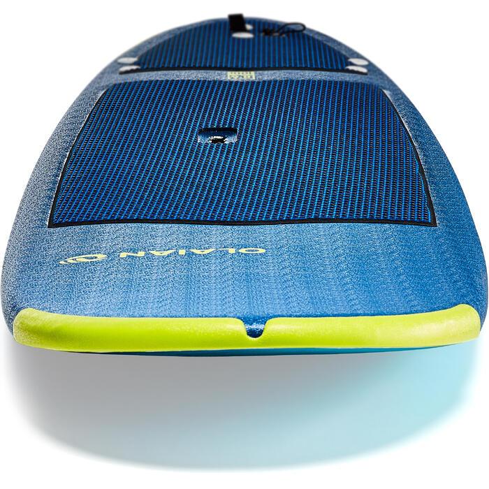 Tabla Surf Espuma Evolutiva Olaian 500 8,6' Adulto Azul Verde Leash Quillas