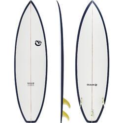 硬式短板衝浪板900 6' 2018年款。附3片板舵。
