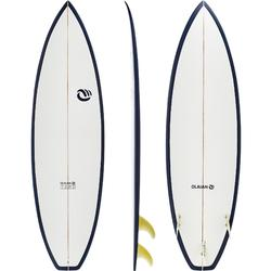 Surfboard 900 6' hand made epoxyharslaminaat. 3 FCS-vinnen.