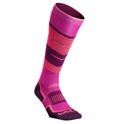 成人滑雪襪300 - 粉紅色