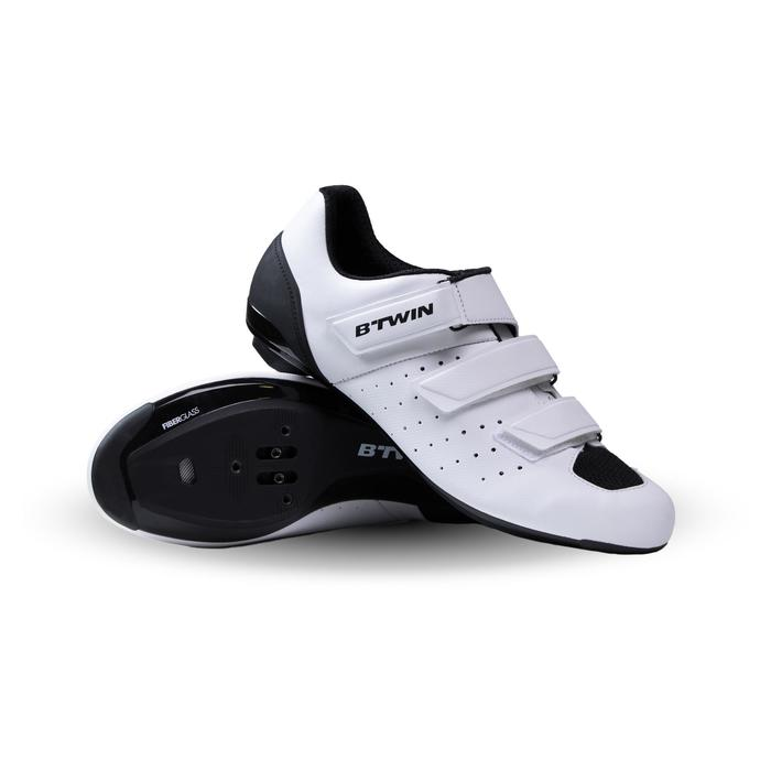 Zapatillas ciclismo carretera RoadRacing 500 BLANCO