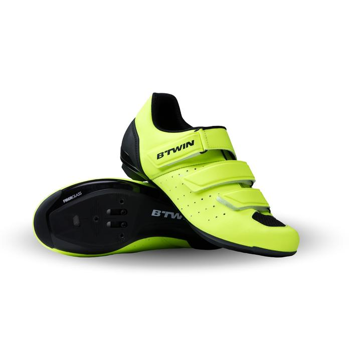 Zapatillas ciclismo carretera RoadRacing 500 AMARILLO FLUO