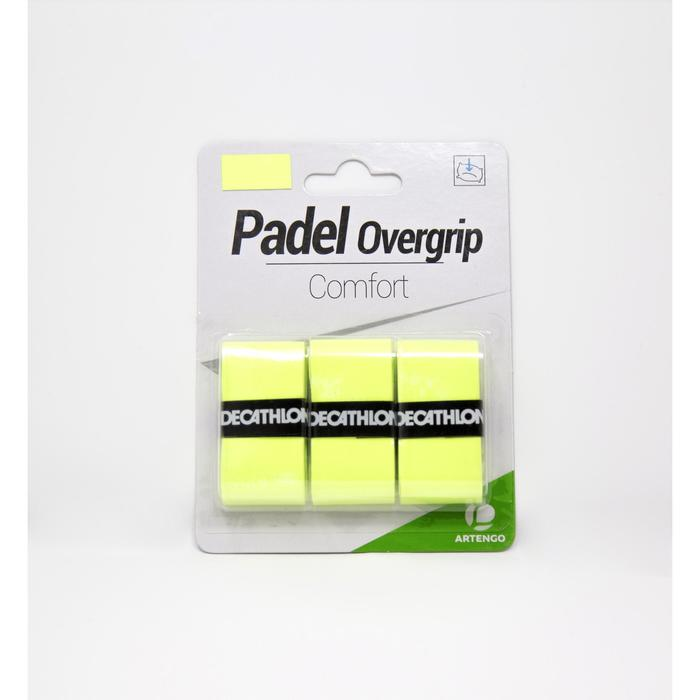 Padel overgrip comfort geel 3 stuks