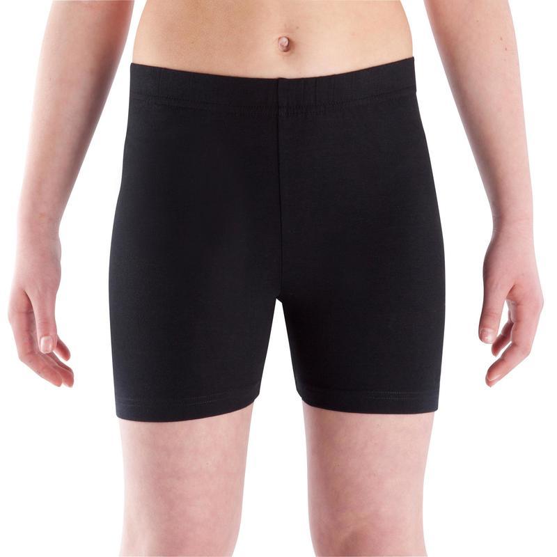 Short 100 Gym fille noir | Domyos by Decathlon