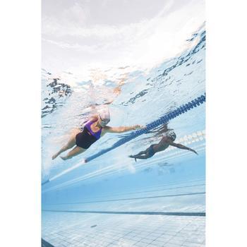 Maillot de bain de natation une pièce femme résistant chlore Leony bleu rose - 1313735