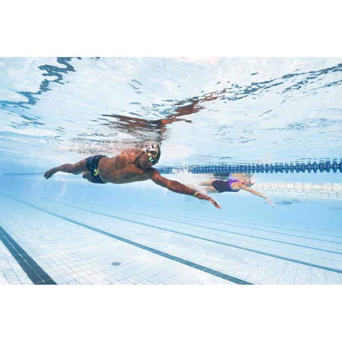 Zwembril 500 Spirit maat L blauw/groen heldere glazen