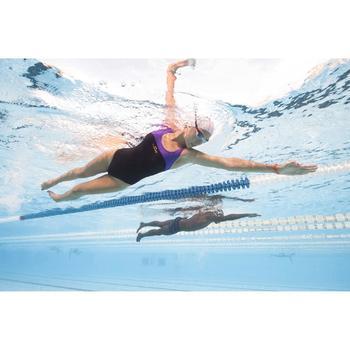 Maillot de bain de natation une pièce femme résistant chlore Leony bleu rose - 1313750
