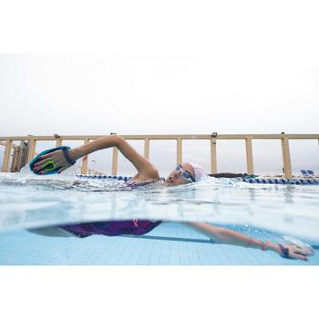 Maillot de bain de natation une pièce femme résistant au chlore Kamiye Léo viole