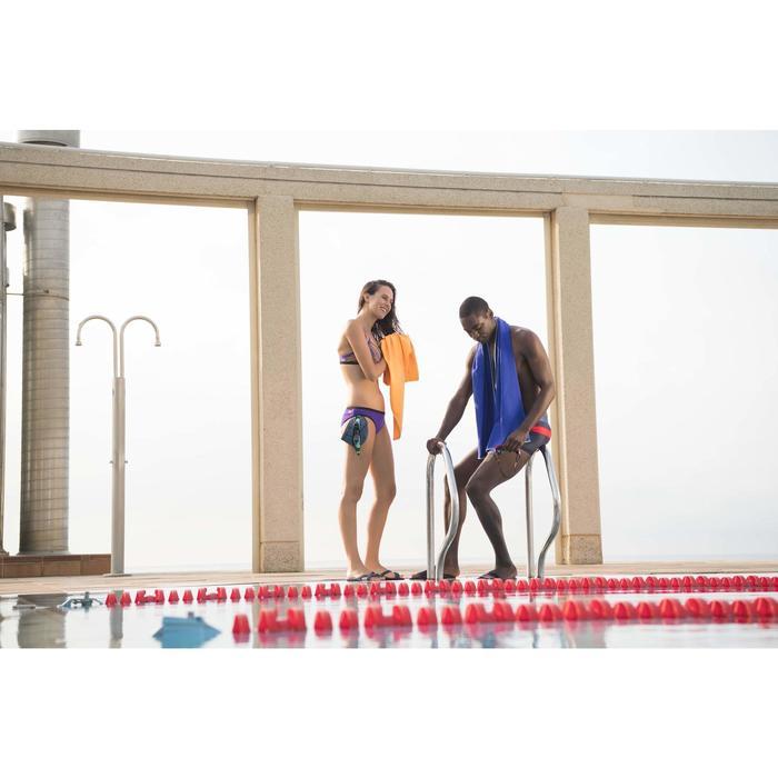 Badslippers zwembad dames Slap 500 Lay blauw/groen