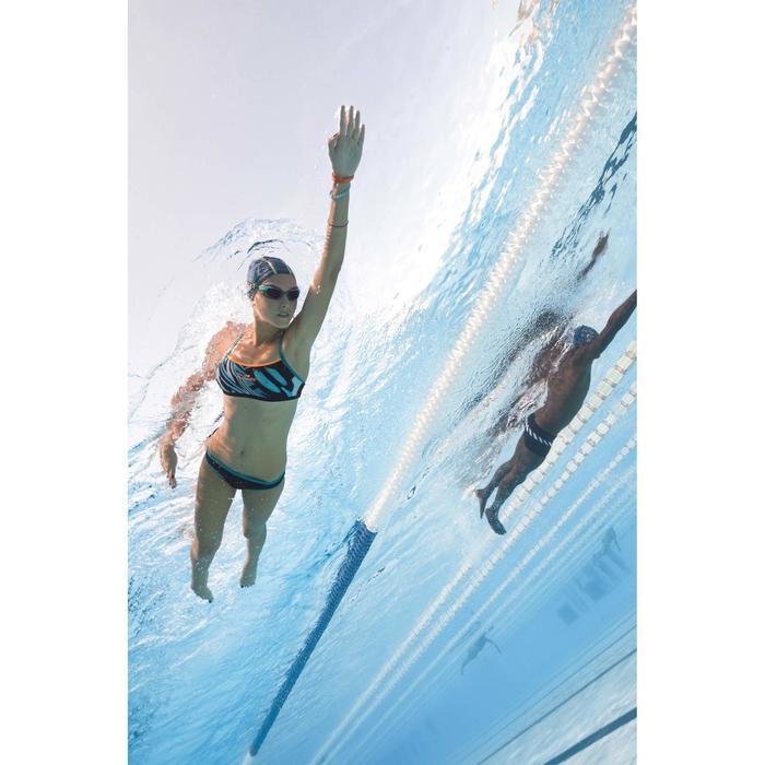 Bas de maillot de bain de natation femme résistant au chlore Jade noir vert