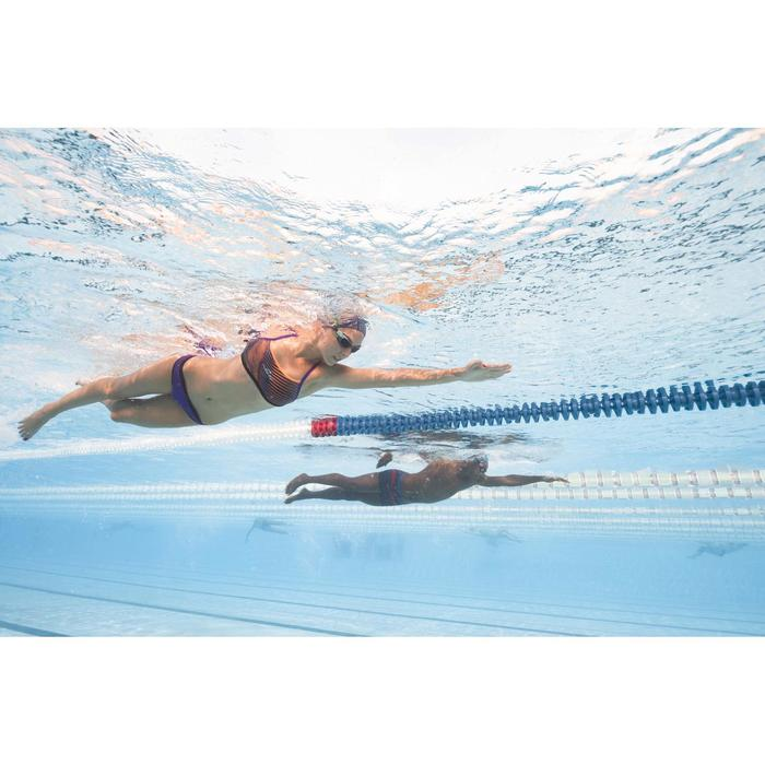 Braguita de bikini de natación mujer resistente al cloro Jade Violeta Negro