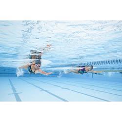 Bañador de natación una pieza mujer resistente al cloro Jade wing verde