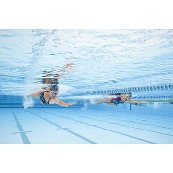 Maillot de bain de natation une pièce femme résistant au chlore Jade wing vert