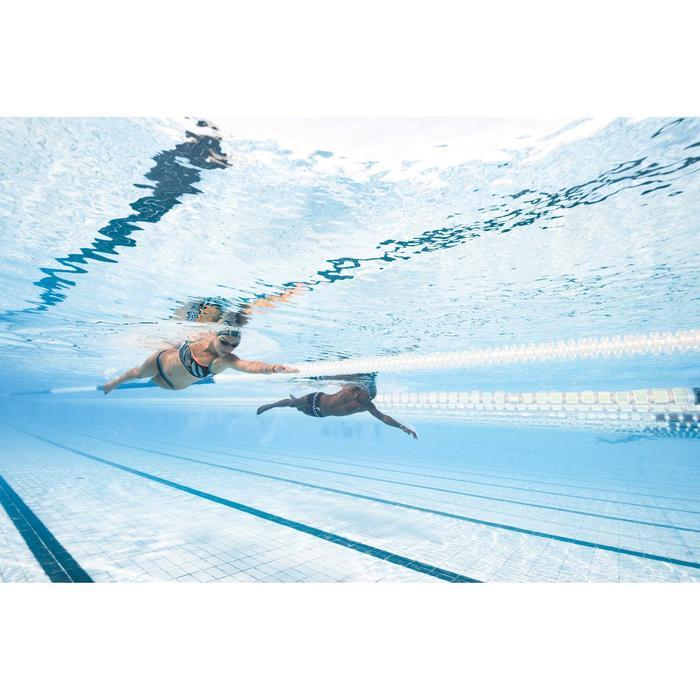 Braguita de bikini de natación mujer resistente al cloro Jade Negro Verde
