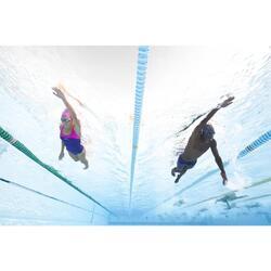 Schwimmbrille klar 500 Spirit Größe L dunkelgrau/grün