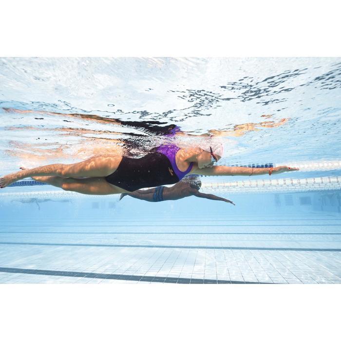 Maillot de bain de natation une pièce femme résistant chlore Leony bleu rose - 1313859