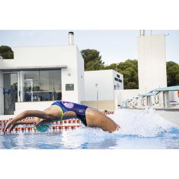 Maillot de bain de natation une pièce femme résistant au chlore Lidia bleu navy - 1313871
