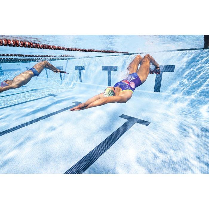 Maillot de bain de natation une pièce femme résistant au chlore Lidia bleu navy - 1313888