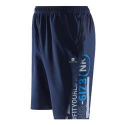 Fitness short FST100 voor heren, voor cardiotraining, marineblauw