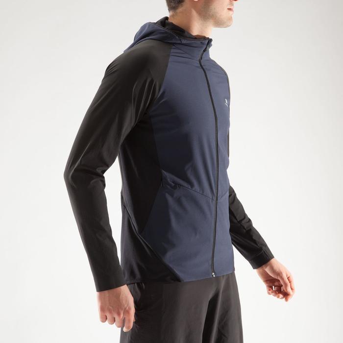Veste fitness cardio homme gris noir FVE900 - 1313971