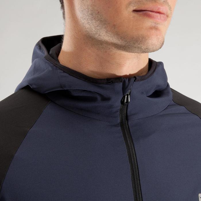 Veste fitness cardio homme gris noir FVE900 - 1313983