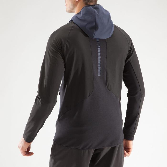 Veste fitness cardio homme gris noir FVE900 - 1313996