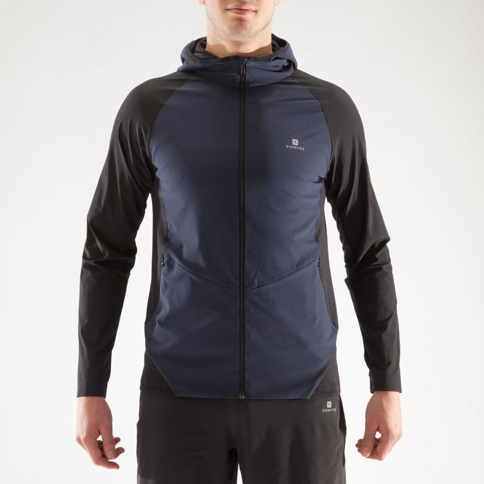 Veste fitness cardio homme gris noir FVE900 - 1313998
