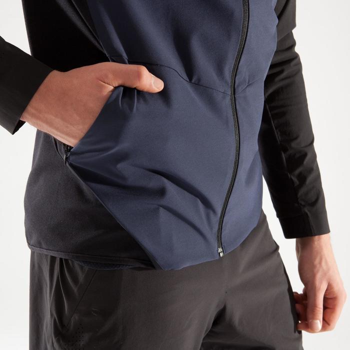 Veste fitness cardio homme gris noir FVE900 - 1314020
