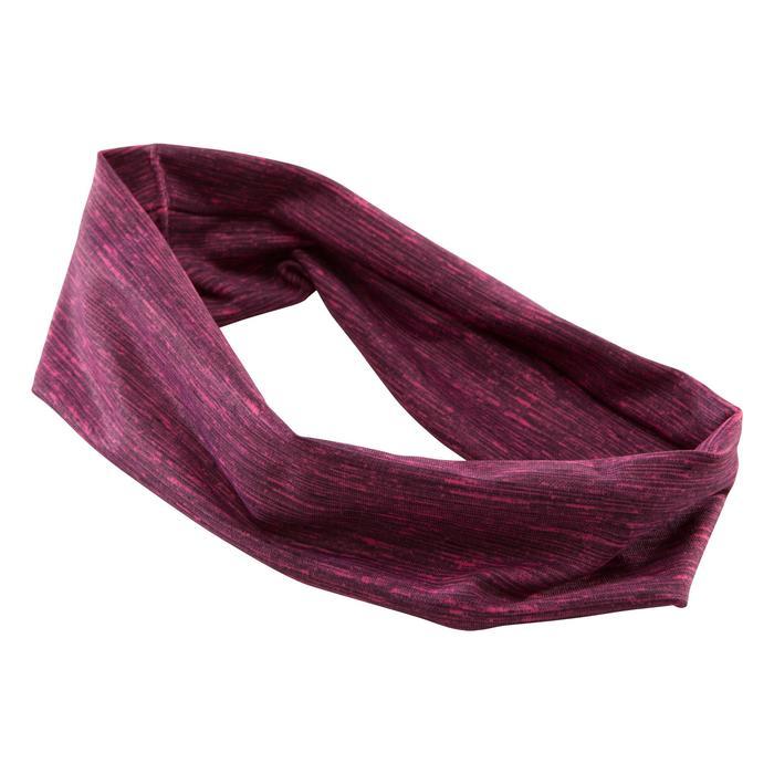 Fitness hoofdband cardiotraining voor dames roze