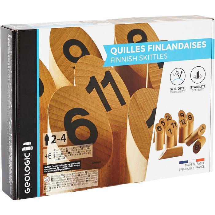 Finnish Skittles – Skandinavisches Holzkegelspiel Standardgröße