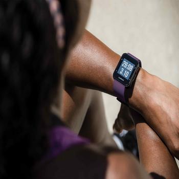 Gps-horloge met hartslagmeting aan de pols Forerunner 30 zwart - 1314190
