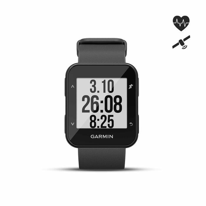 Gps-horloge met hartslagmeting aan de pols Forerunner 30 zwart - 1314196