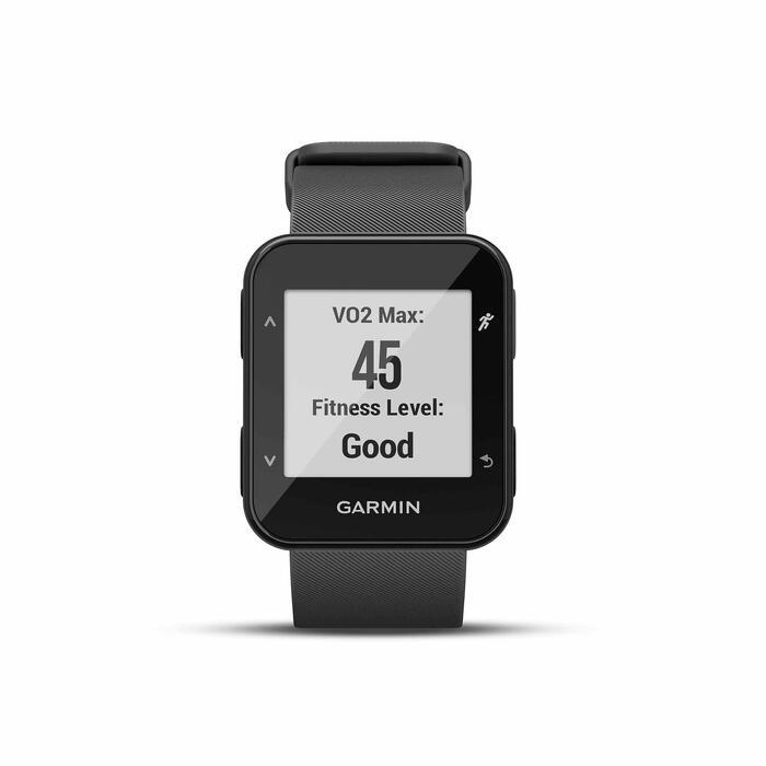 Gps-horloge met hartslagmeting aan de pols Forerunner 30 zwart - 1314198