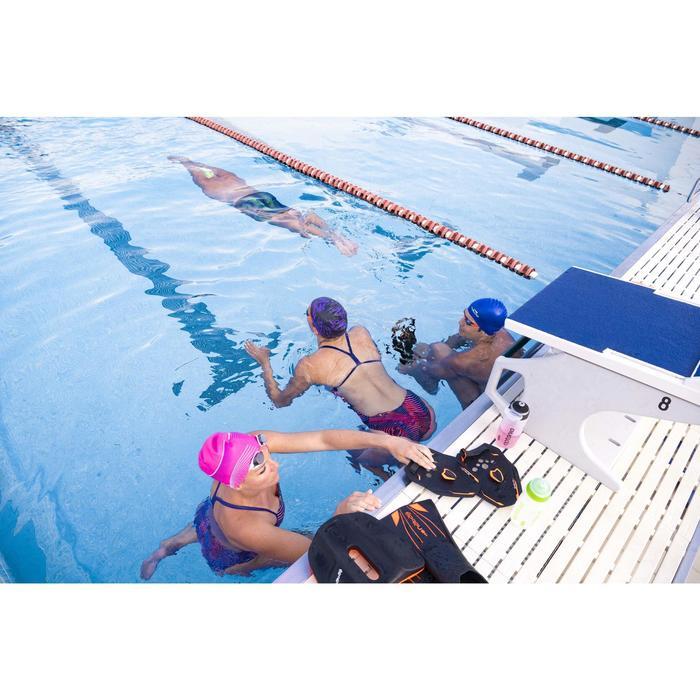 Schwimmpaddles 900 Quick'In schwarz/rot