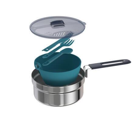單人不鏽鋼鍋具組(1.1 L)