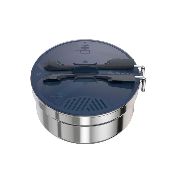 單人登山露營不鏽鋼鍋具組MH 100(1.1 L)