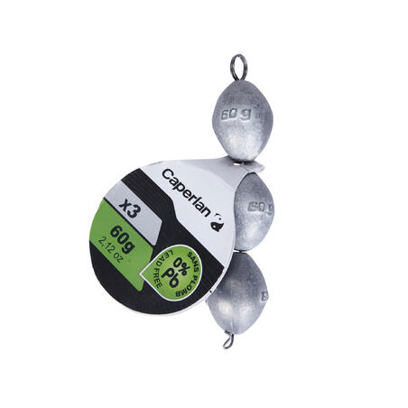 Olive lead-free ledgering weights