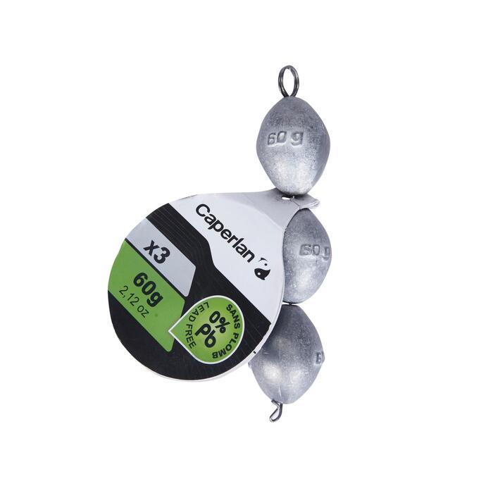 Lests olive 0% plomb pêche au posé
