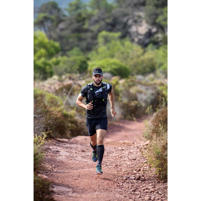 Mochila De Trail Running Kalenji Mixto 10 L Negro Y Blanco