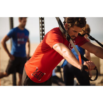 T-SHIRT CROSSTRAINING 500 HOMME ROUGE