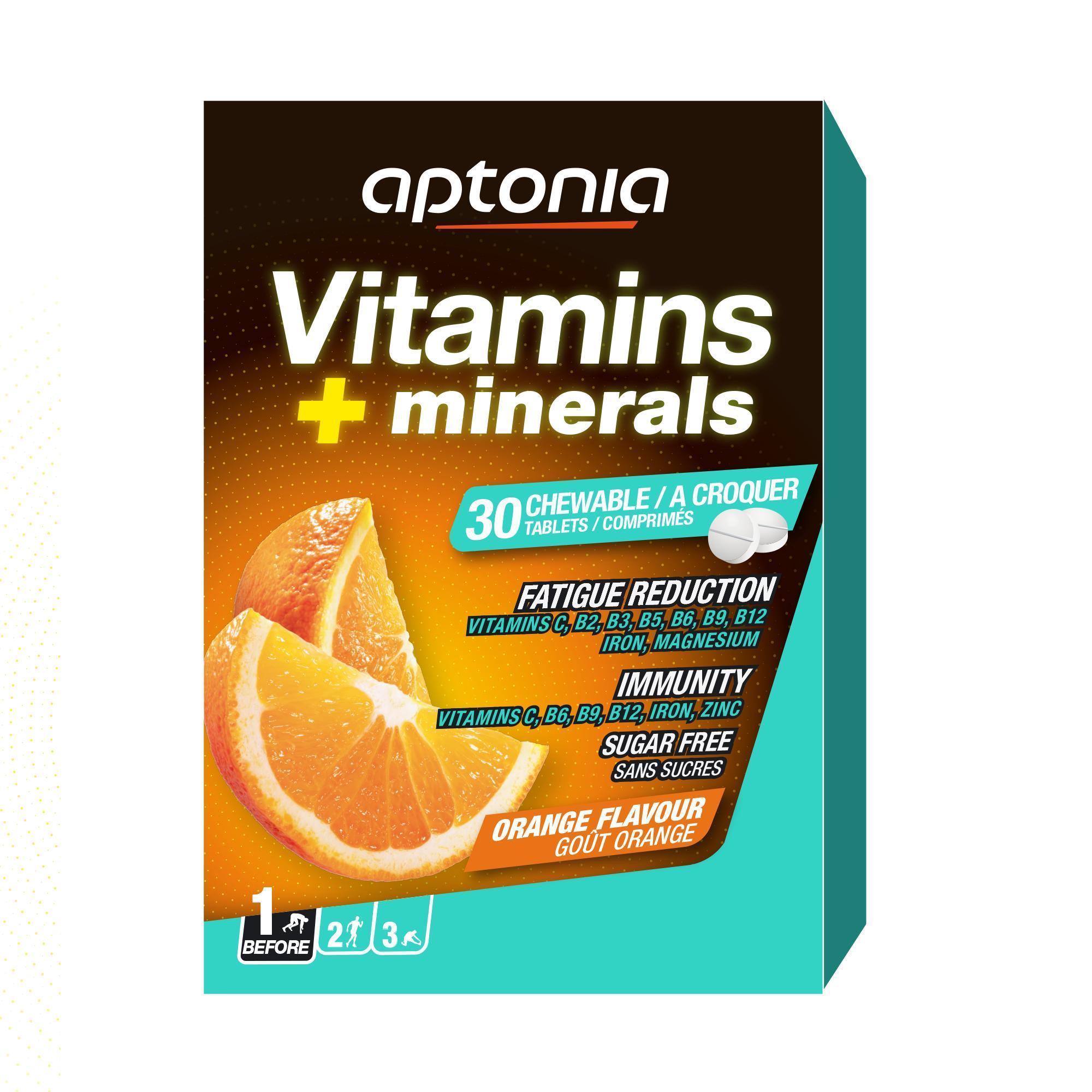 Aptonia Voedingssupplement met vitaminen en mineralen sinaasappel x30
